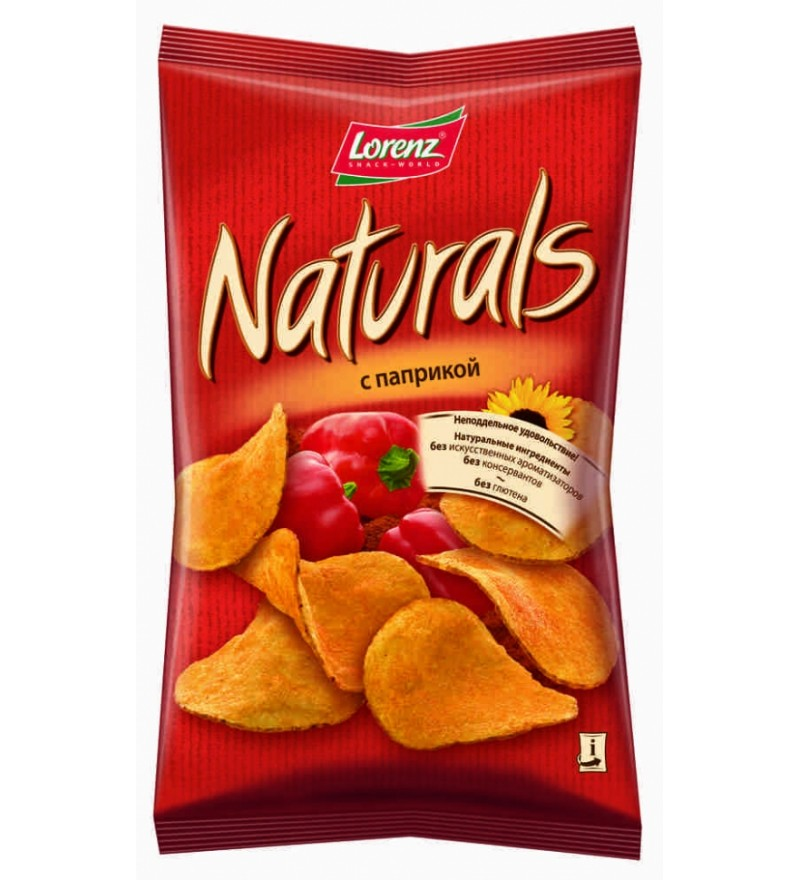 """Чипсы картофельные """"Naturals"""" с паприкой"""