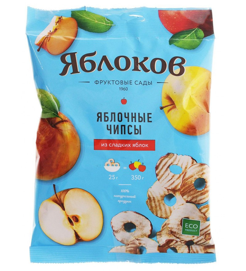 "Apple chips ""Yablokov"" from sweet apples"