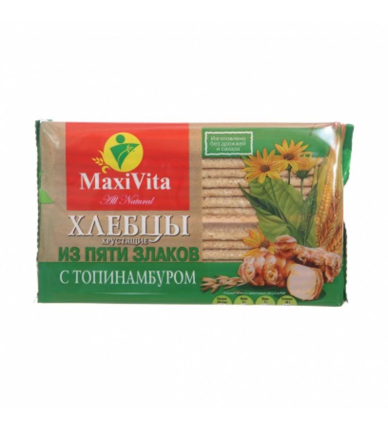 """Хлебцы хрустящие """"MaxiVita"""" из пяти злаков с топинамбуром"""