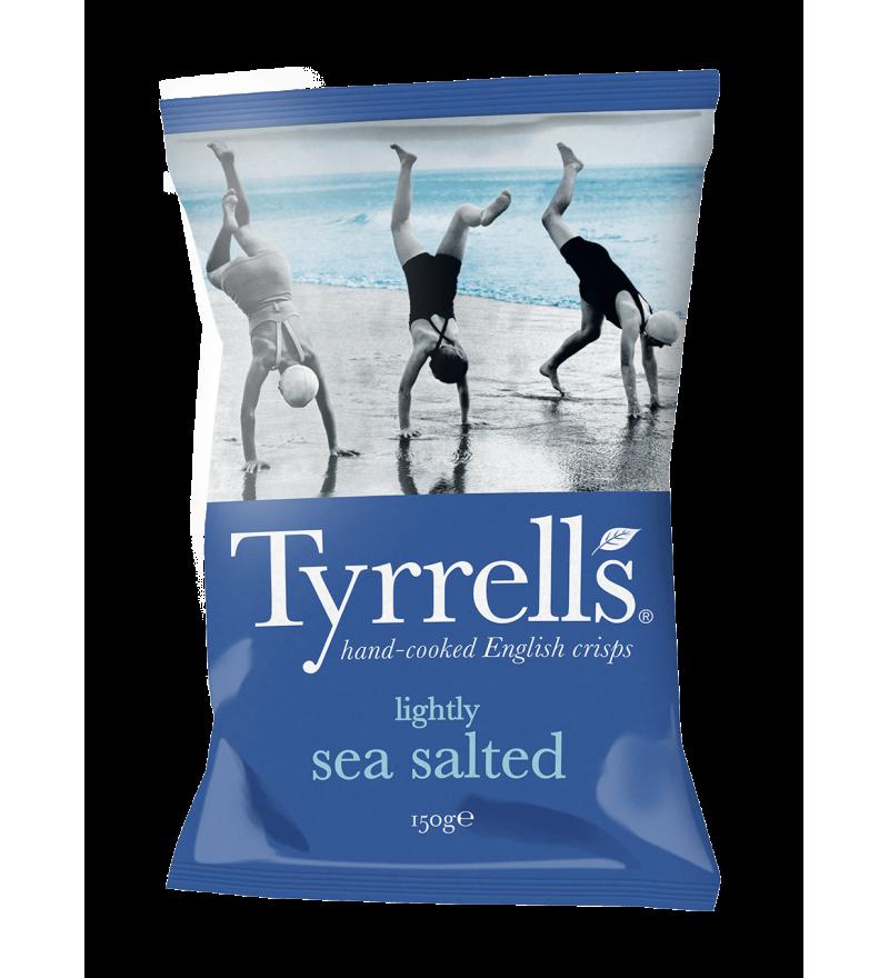 """Чипсы картофельные """"Tyrrells"""" с морской солью слабосоленые"""