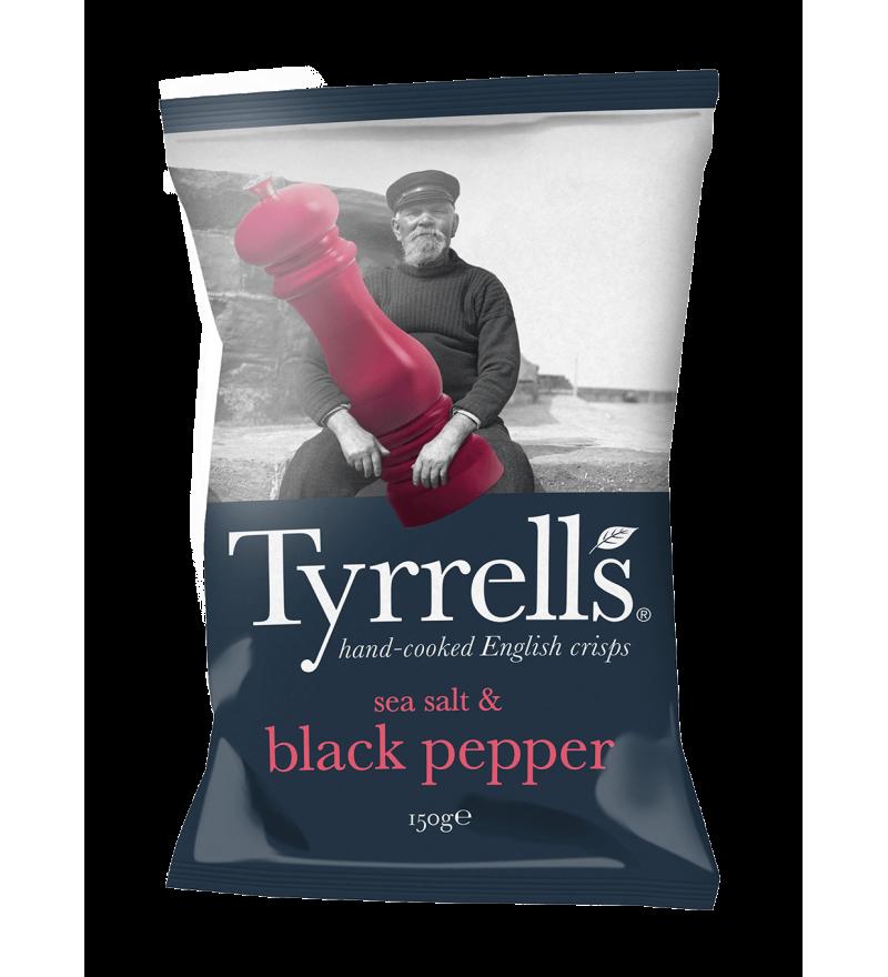 """Чипсы картофельные """"Tyrrells"""" с морской солью и черным перцем"""