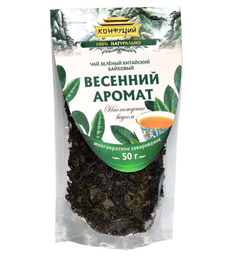 """Чай """"Конфуций"""" зеленый байховый Весенний Аромат"""
