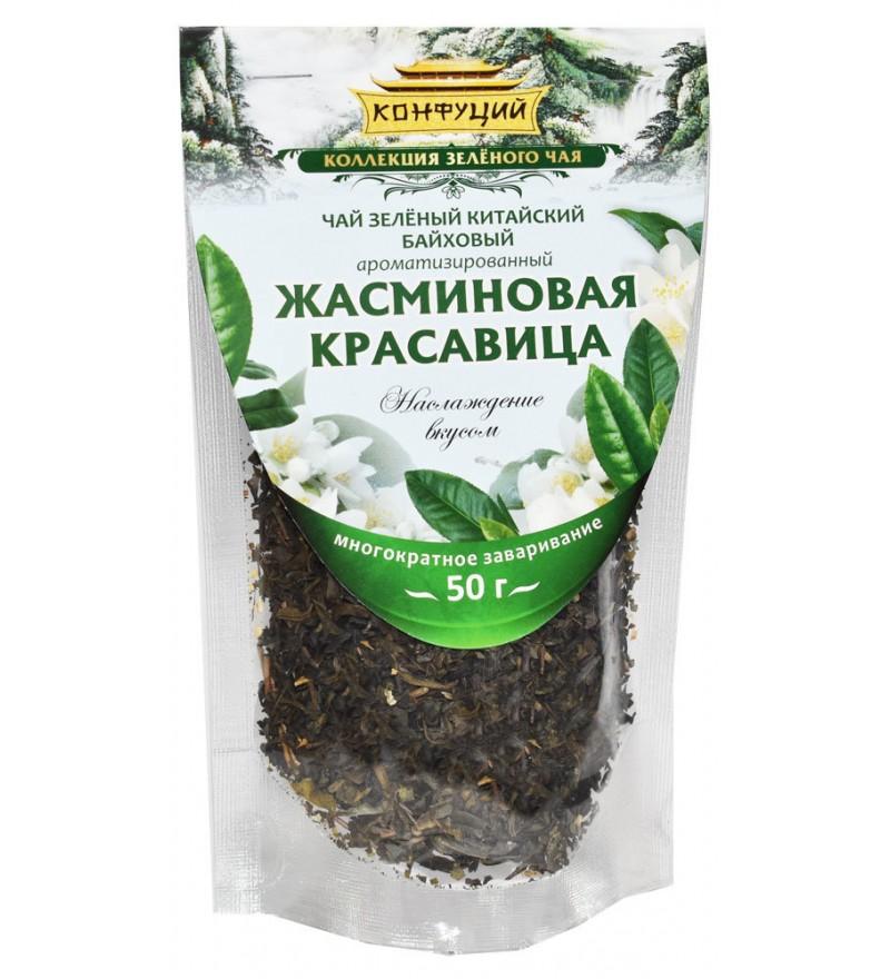 "Чай ""Конфуций"" зеленый Жасминовая Красавица"