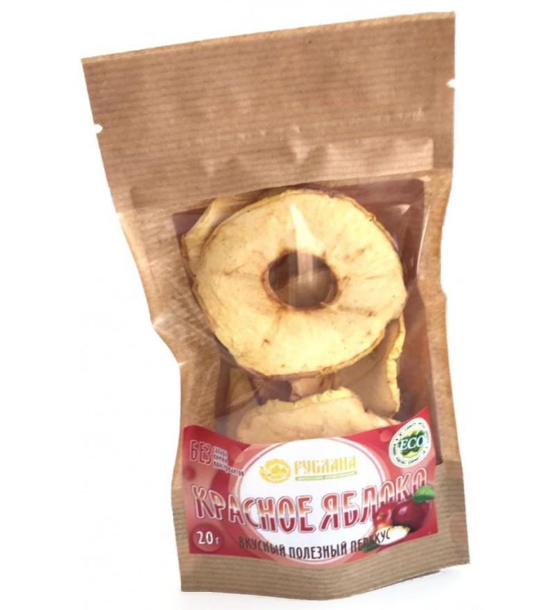 """Яблочные чипсы из красных яблок """"Живые"""""""