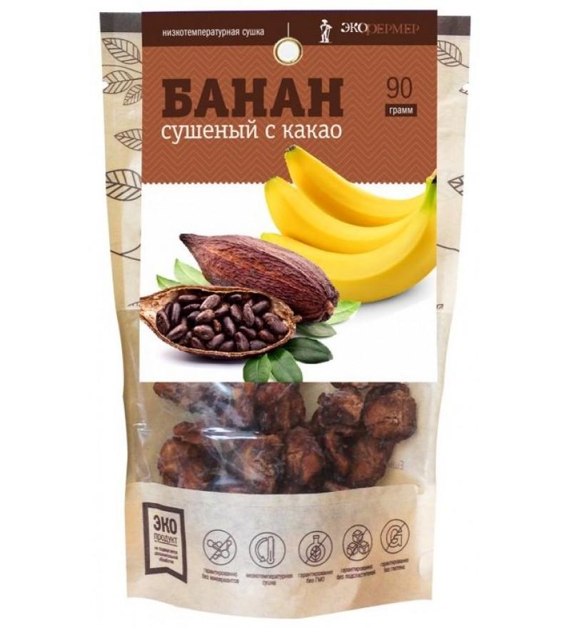 """Банан сушеный с какао """"Экофермер"""""""