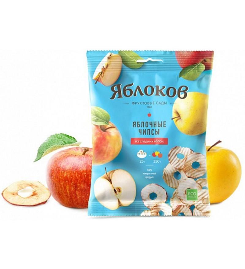 """Яблочные чипсы """"Яблоков"""" из сладких яблок"""