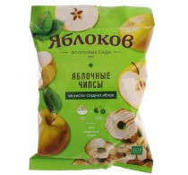 """Apple chips """"Yablokov"""" from sour-and-sweet apples"""