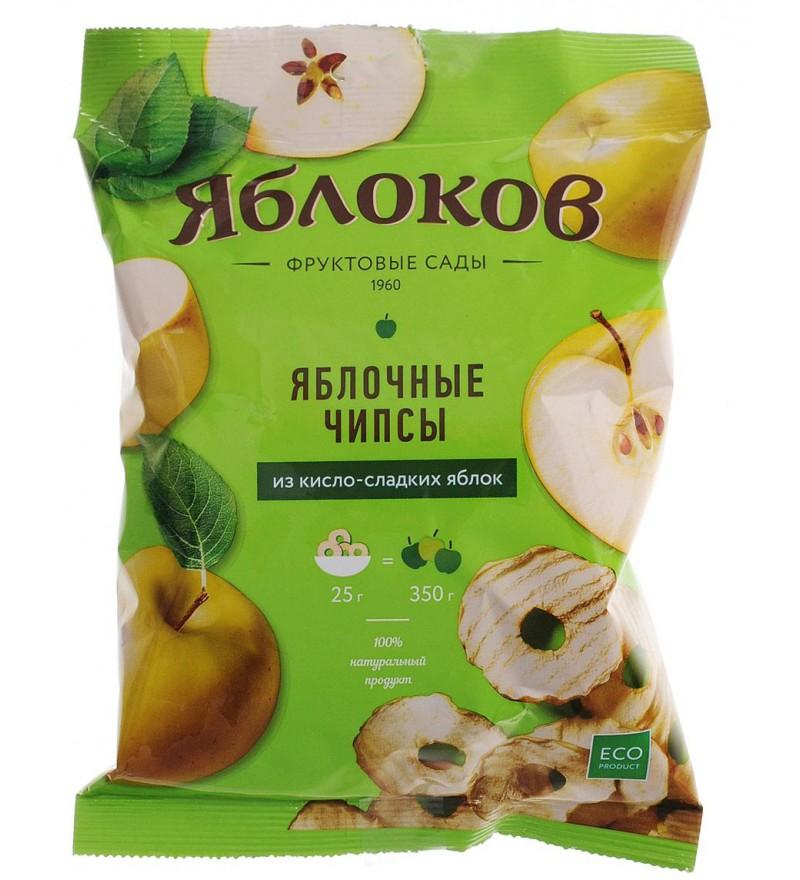 """Яблочные чипсы """"Яблоков"""" из кисло-сладких яблок"""