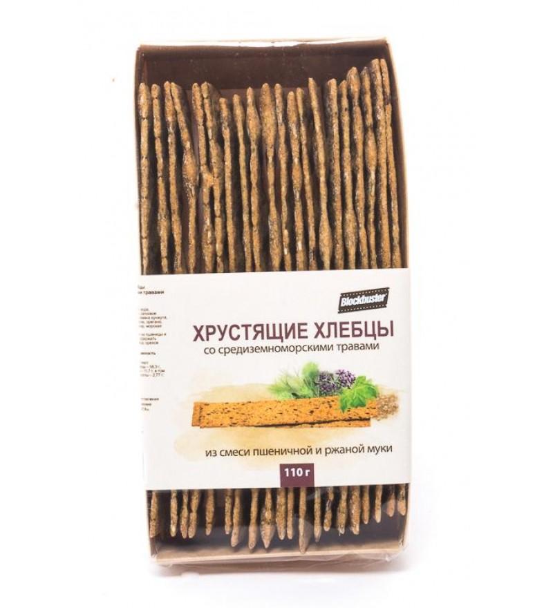 """Хлебцы пшеничные хрустящие """"Blockbuster"""" со средиземноморскими травами"""