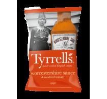 """Чипсы картофельные """"Tyrrells"""" с вустерским соусом и томатами"""