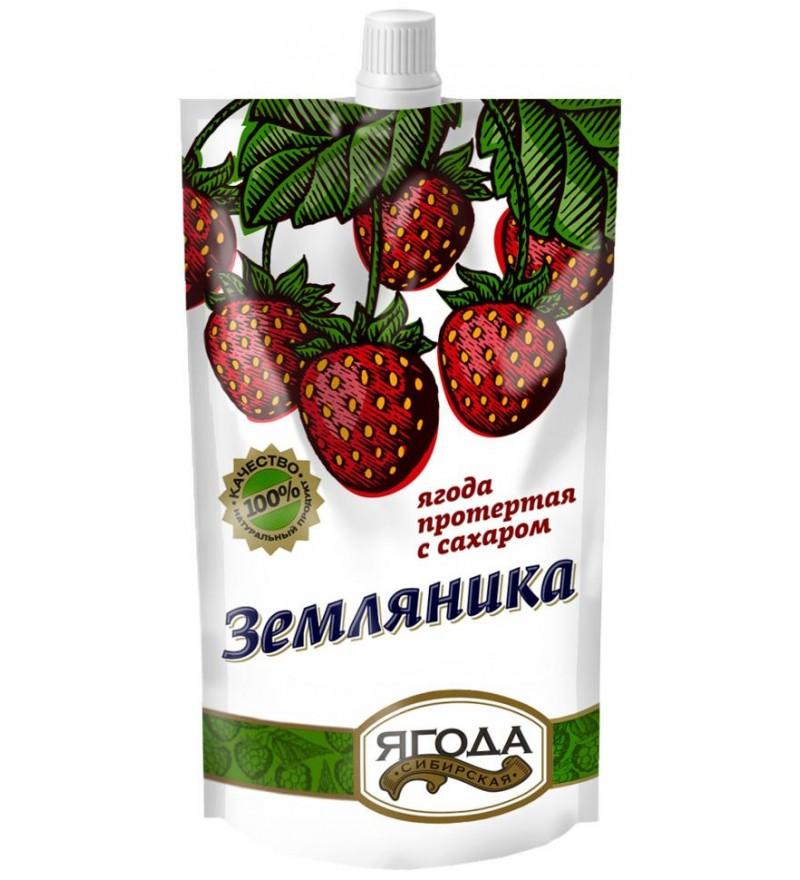 Земляника протертая с сахаром Сибирская ягода
