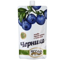 Черника протертая с сахаром Сибирская ягода