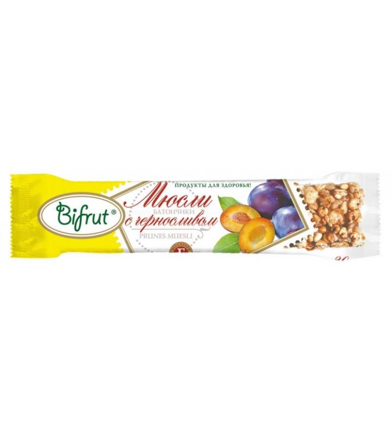 Батончик BIFRUT мюсли с черносливом на фруктозе