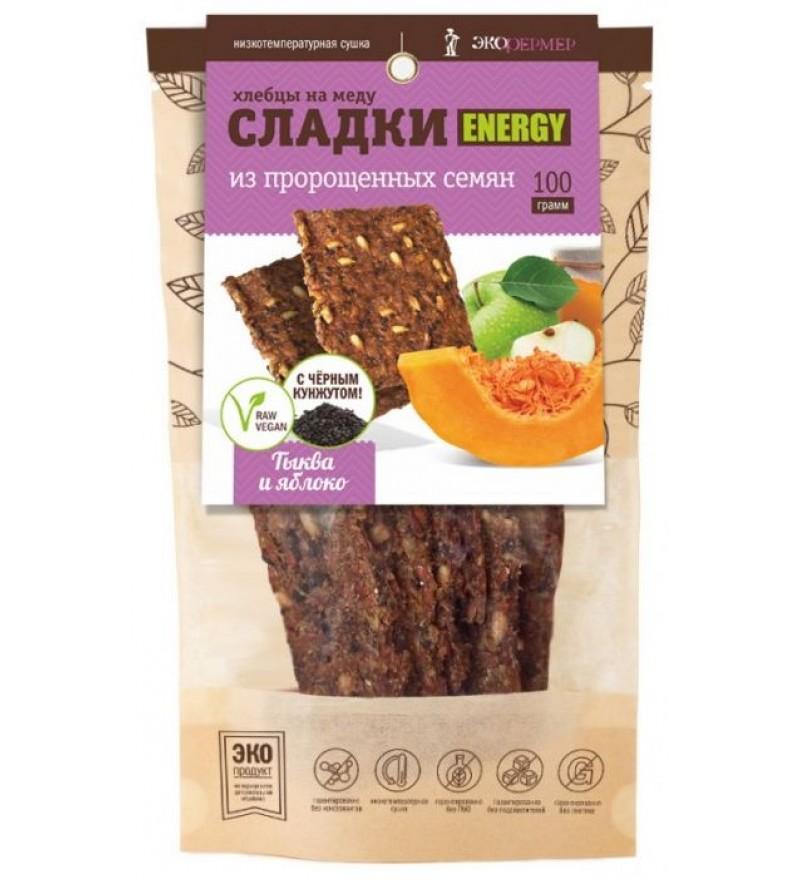 """Хлебцы на меду """"Тыква и яблоко"""" СЛАДКИ ENERGY"""
